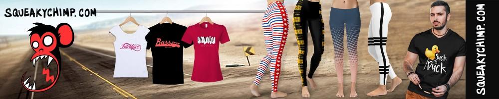 Squeaky Chimp Tshirts Leggings Skirts